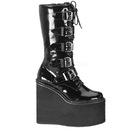 Demonia SWING-220 Women's Mid-Calf & Knee High Boots, 5 1/2