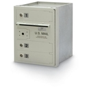 Postal Products Unlimited N1027860 3-Door 4C High Security Horizontal Mailbox, Postal Grey