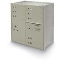 Postal Products Unlimited N1027865 8-Door 4C High Security Horizontal Mailbox, Postal Grey