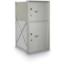 Postal Products Unlimited N1029140 2 Door Parcel Locker 4B+ Horizontal Mailbox, Anodized Aluminum