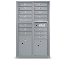 Postal Products Unlimited N1029410 16 Door Standard 4C Mailbox with 2 Parcel Lockers
