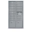 Postal Products Unlimited N1029415 20 Door Standard 4C Mailbox with 2 Parcel Lockers