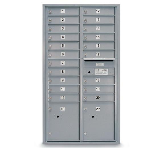 Postal Products Unlimited N1029415 20 Door Standard 4c Mailbox With 2 Parcel Lockers Sale Reviews Opentip