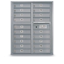 Postal Products Unlimited N1029440 19 Door Standard 4C Front Loading Mailbox, Silver Powder Coat