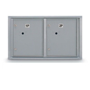 Postal Products Unlimited N1029449 Standard 4C Mailbox with 2 Horizontal Parcel Lockers