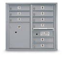 Postal Products Unlimited N1029451 9 Door Standard 4C Mailbox with 1 Parcel Locker