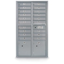 Postal Products Unlimited N1029454 19 Door Standard 4C Mailbox with 2 Parcel Lockers