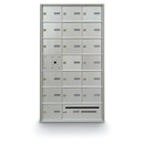 Postal Products Unlimited N1029589 18 Door Front Load with Outgoing Mail Slot 4B+ Horizontal Mailbox, Anodized Aluminum