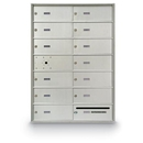 Postal Products Unlimited N1029590 12 Door Front Load with Outgoing Mail Slot 4B+ Horizontal Mailbox, Anodized Aluminum