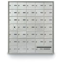 Postal Products Unlimited N1029591 32 Door Front Load with Outgoing Mail Slot 4B+ Horizontal Mailbox, Anodized Aluminum