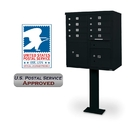 Postal Products Unlimited N1031541 8 Door F-Spec Cluster Box Unit with Pedestal, Black