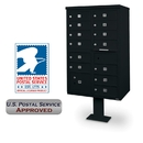 Postal Products Unlimited N1031544 13-Door F-Spec Cluster Box Unit with Pedestal, Black