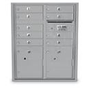 Postal Products Unlimited N1032245 4C Standard Mailbox - 9 Door 2 Parcel Lockers