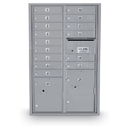 Postal Products Unlimited N1034001 15 Door Standard 4C Front Loading Mailbox with 2 Parcel Lockers