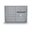 Postal Products Unlimited N1034006 10 Door Standard 4C Mailbox, Silver Powder Coat