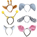 TopTie 6 PCS Plush Animal Headbands Cute Party Head Band Halloween Costume