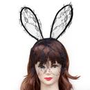 TopTie Bunny Headwear Lace Veil Rabbit Headband Hair Accessory Bunny Costume