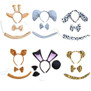 TopTie 3 PCS Animal Costume Set Headwear Bow Tie Tail Dress Up Halloween Party Accessories