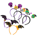 TopTie 6 PCS Adult's Halloween Headband Kids Skull Bat Pumpkin Hairband Cosplay Headdress