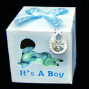 Partypro  It'S A Boy Favor Charm Ribbon Box Set
