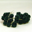 Partypro  Medium Rose Forest Green - 12 Per Bunch