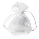 Partypro 40979P White Small Favor Pouches (4X6In.)
