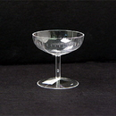 Partypro 60202G Clear Champagne Glass Plastic Favor 2
