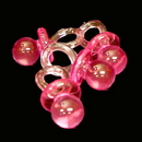 Partypro 80490P Transparent Pink Pacifier (2 1/4 In.)