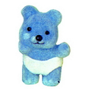 Partypro 80628P Bear (Lt Blue Flocked) With Diaper