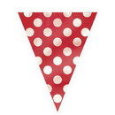 Partypro  Ruby Red Dots Flag Banner