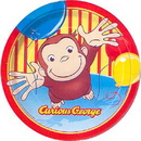Unique 21205 Curious George Animated Dinner Plate (9I