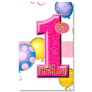 Partypro 23883 First Birthday Girl Tablecover
