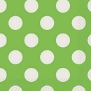 Partypro  Lime Green Dots Beverage Napkin