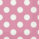 Partypro  Hot Pink Dots Lunch Napkins
