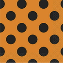 Unique  Orange-Black Dots Lunch Napkin
