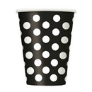 Black Dots 12Oz Cups