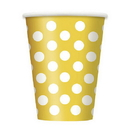 Sun Yellow Dots 12Oz Cups