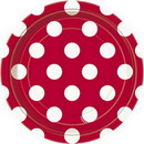 Partypro  Ruby Red Dots Dessert Plate
