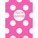 Partypro 37513 Discontinued Hot Pink Dots Invites
