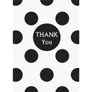 Partypro 37520 Discontinued Black Dots Thank You Notes