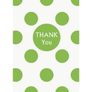 Partypro 37521 Discontinued Lime Green Dots Thank You Notes
