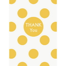 Unique 37522 Discontinued Sun Yellow Dots Thank You Note