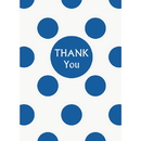 Partypro 37525 Discontinued Royal Blue Dots Thank You