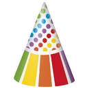 Partypro 47121 Rainbow Birthday Party Hats