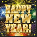 47732 Fireworks New Year Lunch Napkin