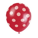 Unique 57592 Ruby Red Dots Latex Balloon