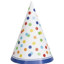 Partypro 58261 Rainbow Polka Dot Party Hat