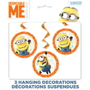 Partypro 59513 Despicable Me 3 Hanging Swirl