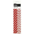 Ruby Red Dots Paper Straws