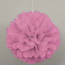 Partypro  Hot Pink Puff Decor 16 Inch